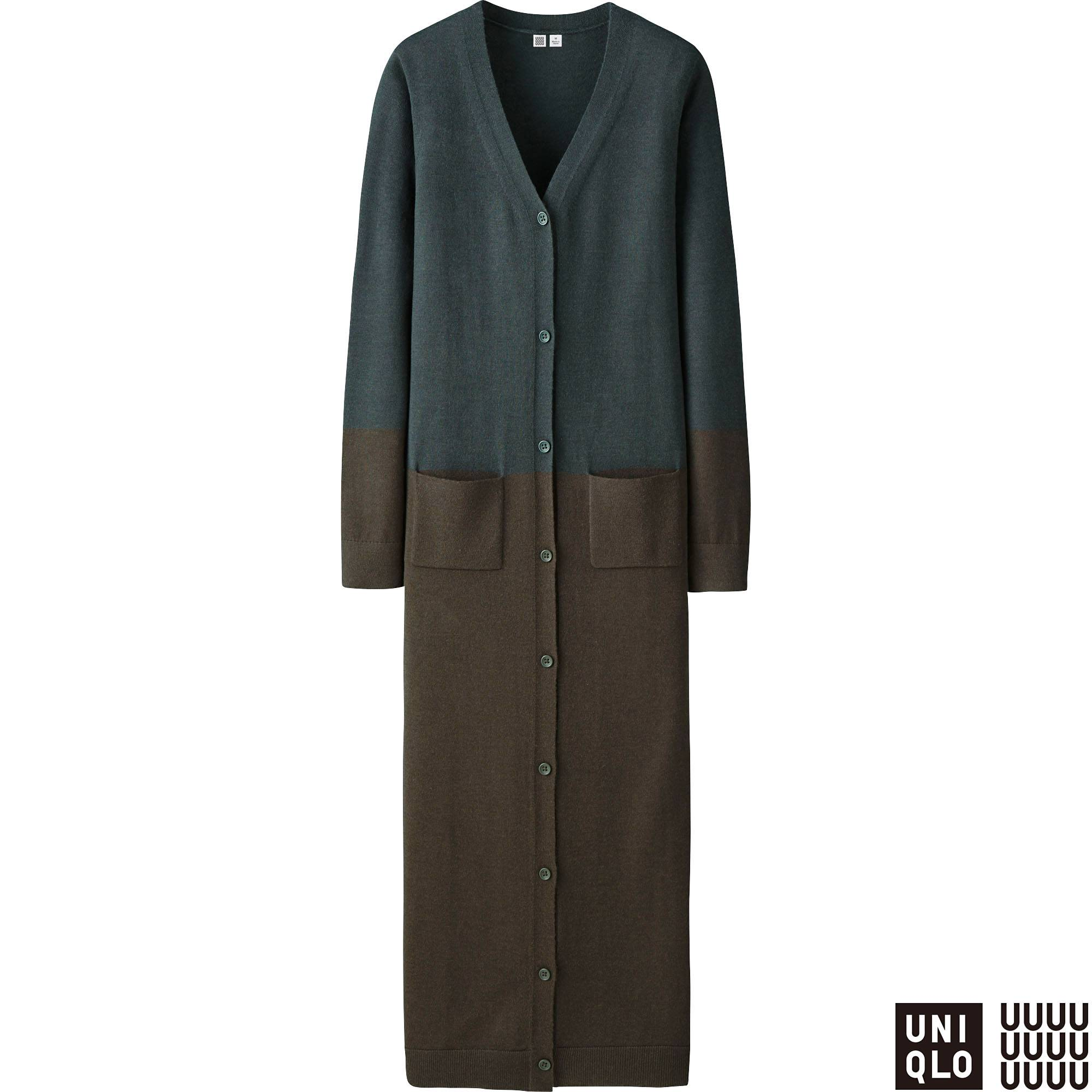 WOMEN U EXTRA FINE MERINO V-NECK LONG CARDIGAN | UNIQLO US