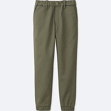 BOYS TWILL JOGGER PANTS, DARK GREEN, medium