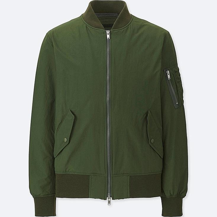 MEN MA-1 BOMBER JACKET, DARK GREEN, large