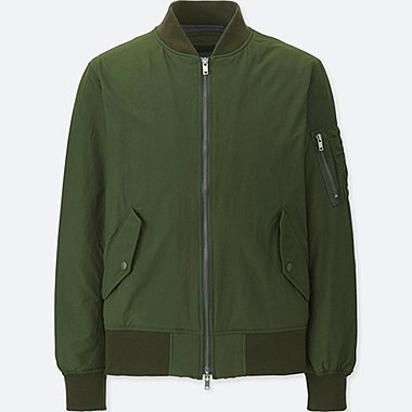 MEN MA-1 BOMBER JACKET, DARK GREEN, medium
