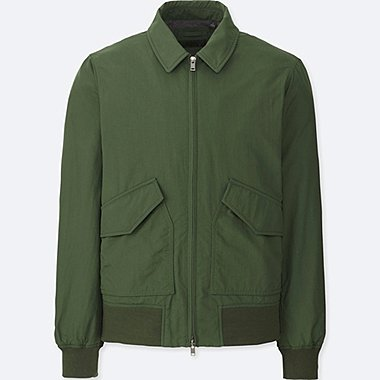 MEN FLIGHT JACKET, DARK GREEN, medium