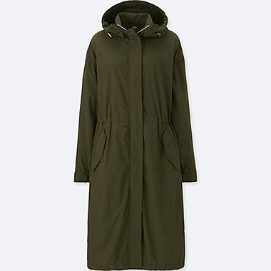 WOMEN OVERSIZED LONG PARKA, DARK GREEN, medium
