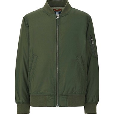 KIDS MA-1 BOMBER JACKET, DARK GREEN, medium