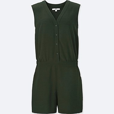 Women Romper, DARK GREEN, medium