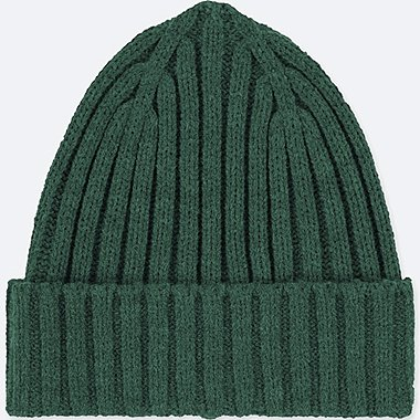 HEATTECH KNITTED CAP, DARK GREEN, medium
