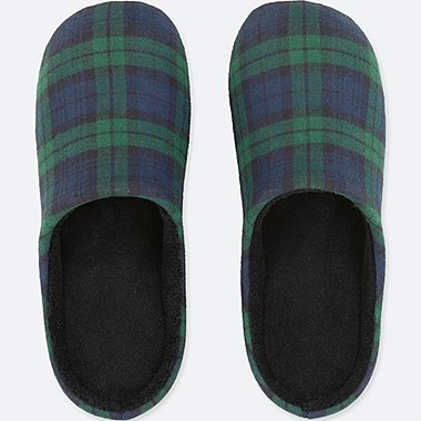 SLIPPERS, DARK GREEN, medium
