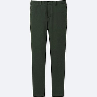 MEN SLIM-FIT CHINO FLAT FRONT PANTS, DARK GREEN, medium