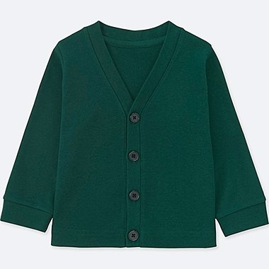 TODDLER COTTON LONG-SLEEVE CARDIGAN, DARK GREEN, medium