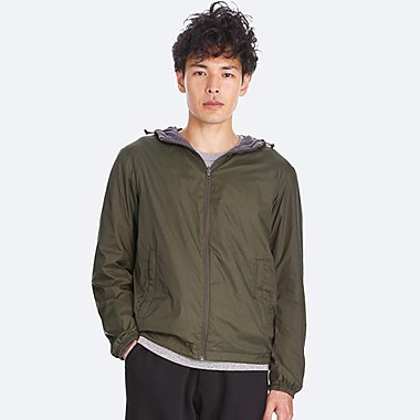 MEN REVERSIBLE PARKA, DARK GREEN, medium