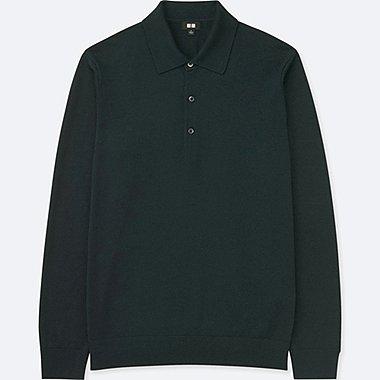 HERREN STRICKPULLOVER MERINO Poloshirt