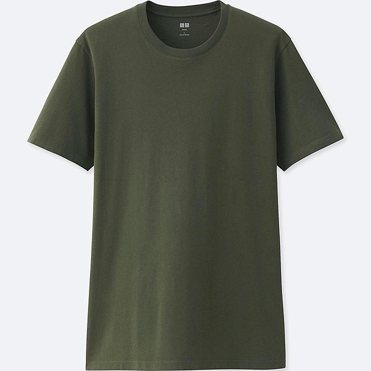 MEN SUPIMA® COTTON CREW NECK SHORT-SLEEVE T-SHIRT, DARK GREEN, large