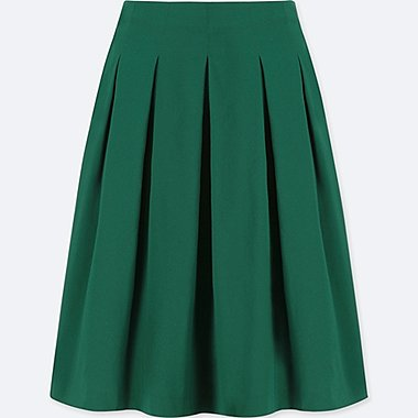 women high waist dry stretch tucked skirt