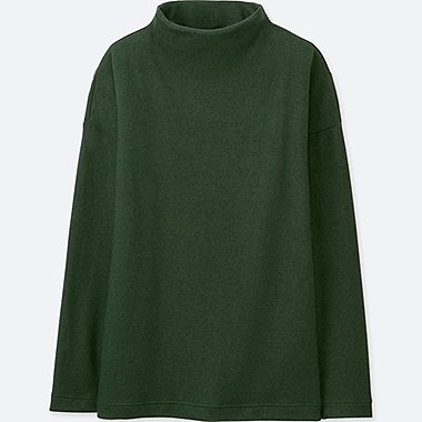 WOMEN SOFT FLEECE HIGH NECK TOP