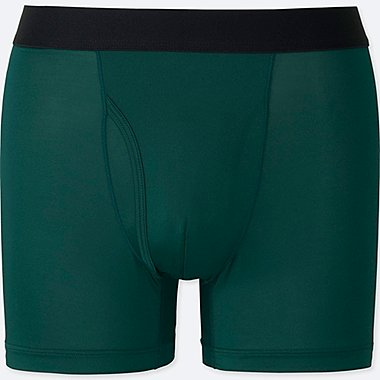 MEN AIRism BOXER BRIEFS, DARK GREEN, medium