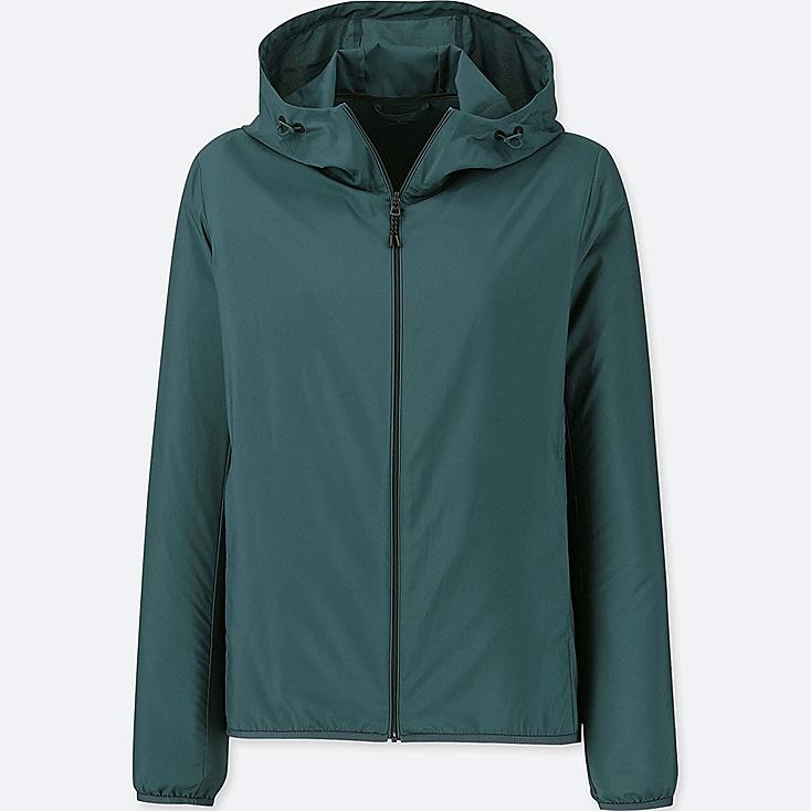 WOMEN POCKETABLE PARKA, DARK GREEN, large