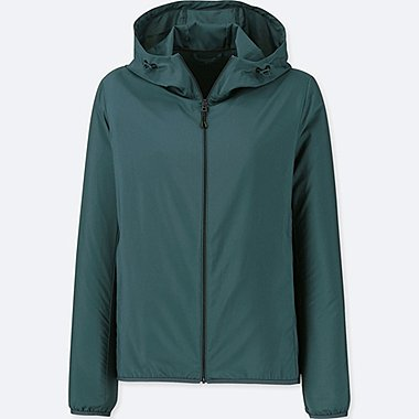 WOMEN POCKETABLE PARKA, DARK GREEN, medium