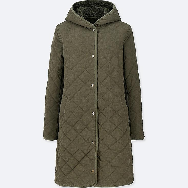 WOMEN PILE-LINED FLEECE COAT (ONLINE EXCLUSIVE), DARK GREEN, large