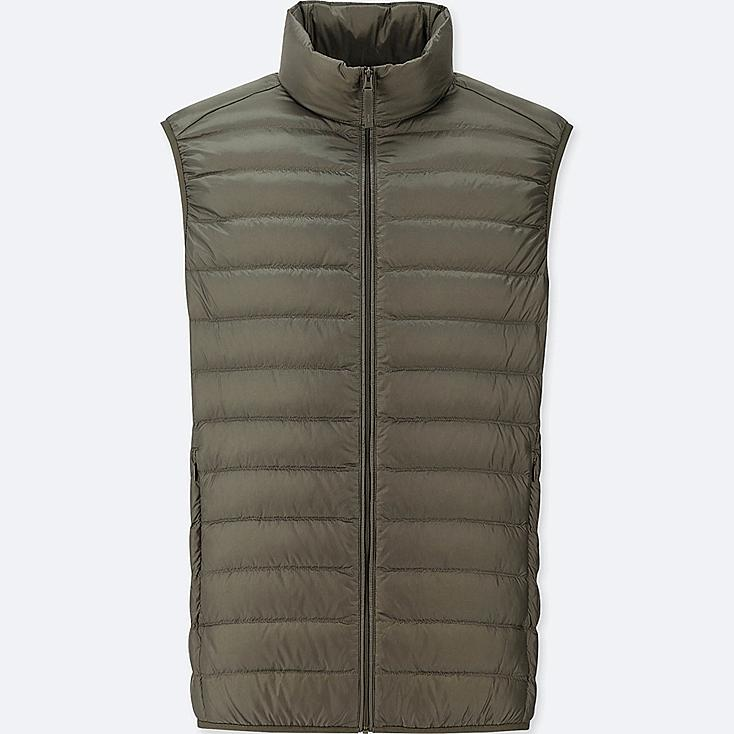 MEN ULTRA LIGHT DOWN VEST, DARK GREEN, large