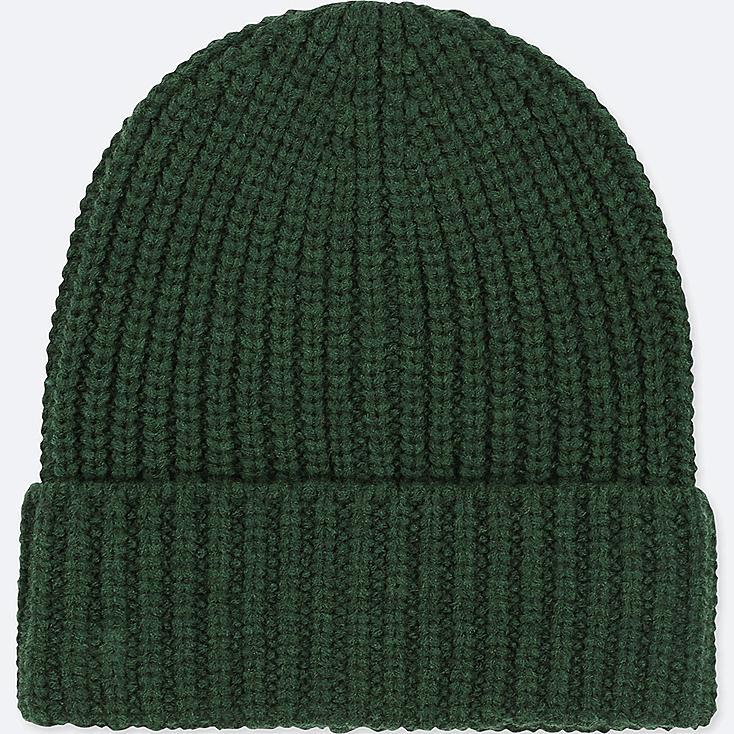 HEATTECH KNITTED CAP, DARK GREEN, large