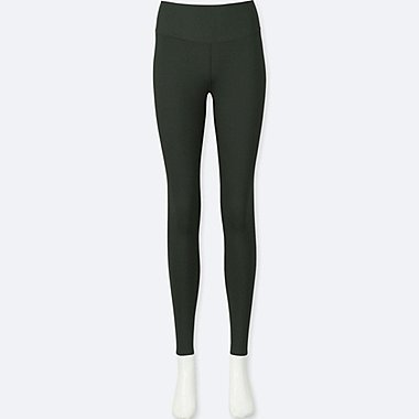 WOMEN AIRism LEGGINGS, DARK GREEN, medium
