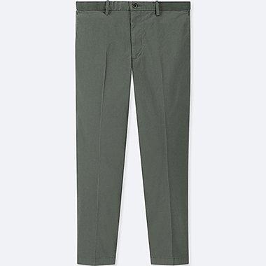 MEN EZY ANKLE-LENGTH PANTS, DARK GREEN, medium