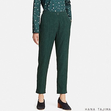 WOMEN HANA TAJIMA CREPE TAPERED ANKLE LENGTH TROUSERS