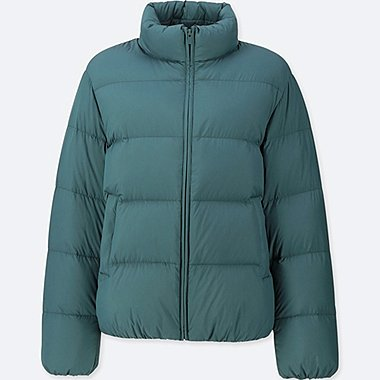 WOMEN ULTRA LIGHT DOWN VOLUME JACKET, DARK GREEN, medium