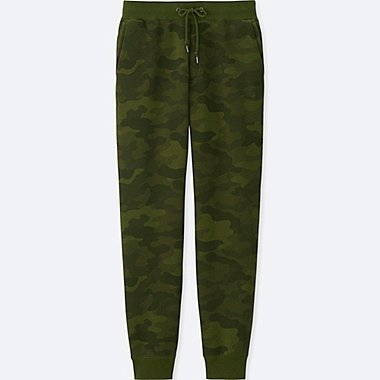 MEN PILE-LINED SWEATPANTS, DARK GREEN, medium