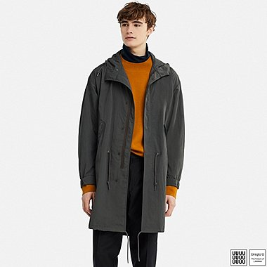 MEN UNIQLO U HOODED FISHTAIL POCKETABLE PARKA