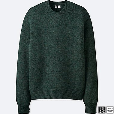 MEN UNIQLO U MELANGE CREW NECK LONG SLEEVED JUMPER