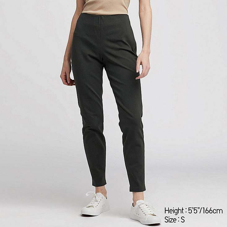 WOMEN SMART ANKLE LEGGINGS PANTS, DARK GREEN, large