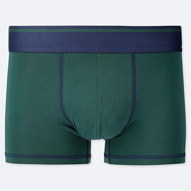MEN SUPIMA® COTTON LOW-RISE BOXER BRIEFS, DARK GREEN, large