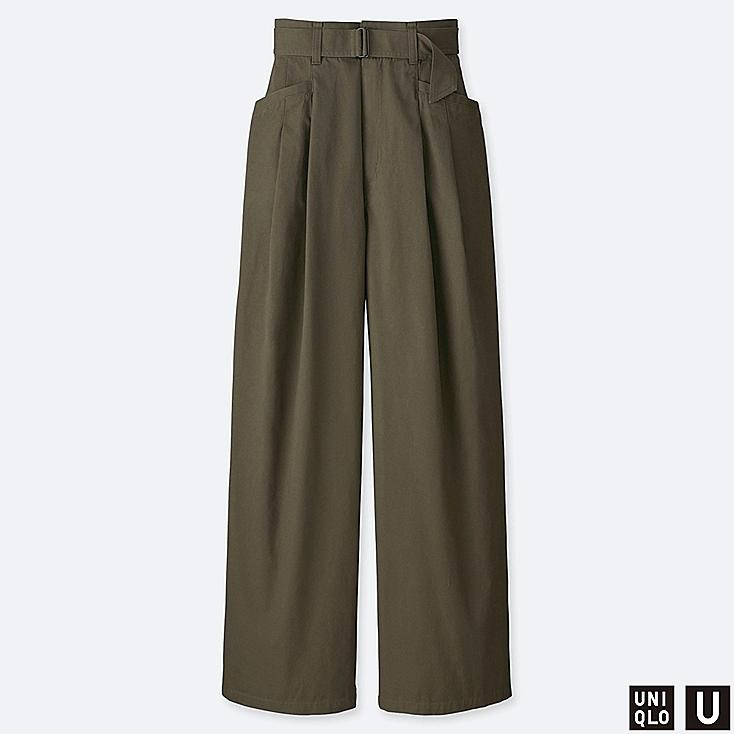 1545d9e064b6 WOMEN UNIQLO U HIGH WAISTED TWO TUCKED TROUSERS