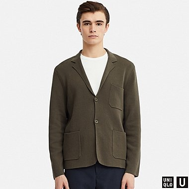 MEN U MILANO RIBBED JACKET, DARK GREEN, medium