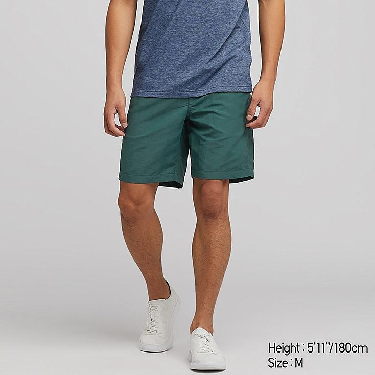MEN SWIM ACTIVE SHORTS, DARK GREEN, large