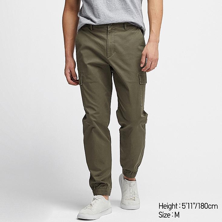 MEN CARGO JOGGER PANTS, DARK GREEN, large
