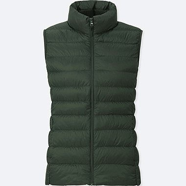 Women Ultra Light Down Vest, DARK GREEN, medium
