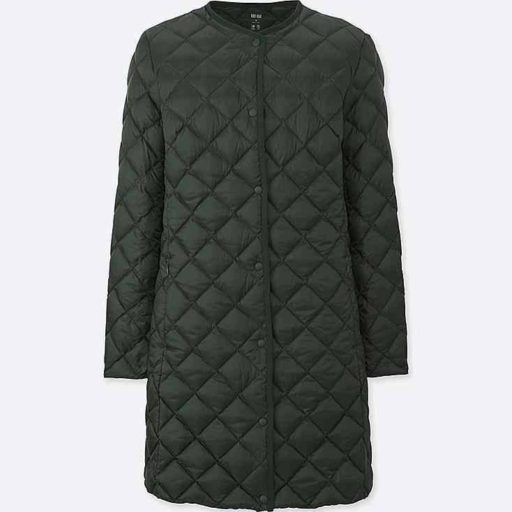 Women Ultra Light Down Compact Coat, DARK GREEN, large