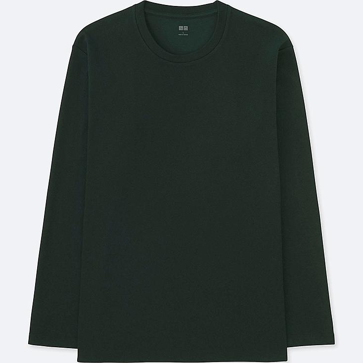 MEN SOFT TOUCH CREWNECK LONG-SLEEVE T-SHIRT at UNIQLO in Brooklyn, NY | Tuggl