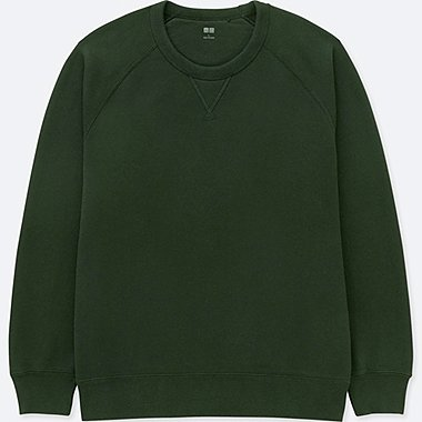 MEN LONG-SLEEVE SWEATSHIRT, DARK GREEN, medium