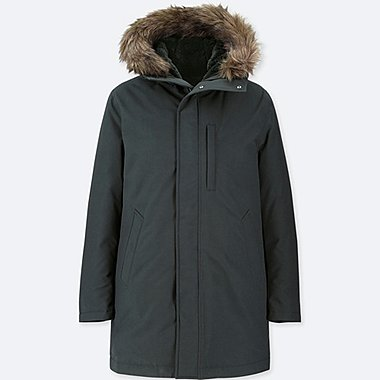 MEN ULTRA WARM DOWN COAT, DARK GREEN, medium