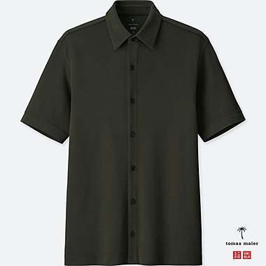 MEN Tomas Maier AIRism FULL OPENED POLO SHIRT