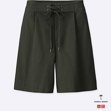 WOMEN TOMAS MAIER CHINO WIDE LEG SHORTS