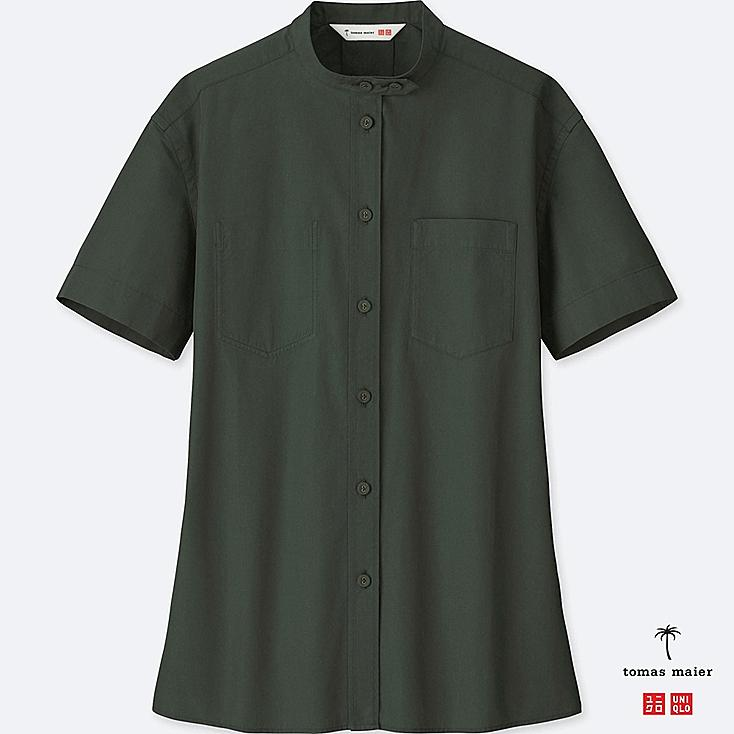 Women Extra Fine Cotton Short Sleeve Shirt by Uniqlo