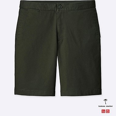 MEN RELAXED CHINO SHORTS, DARK GREEN, medium