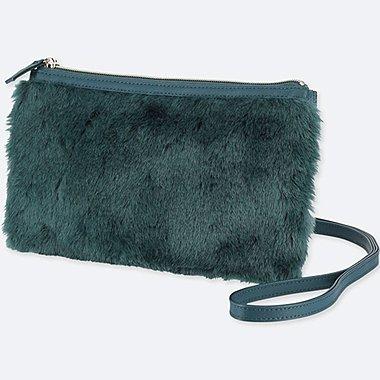 WOMEN FLEECE SHOULDER BAG