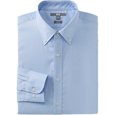 MEN EASY CARE STRETCH SLIM FIT OXFORD LONG SLEEVE SHIRT, LIGHT BLUE, medium