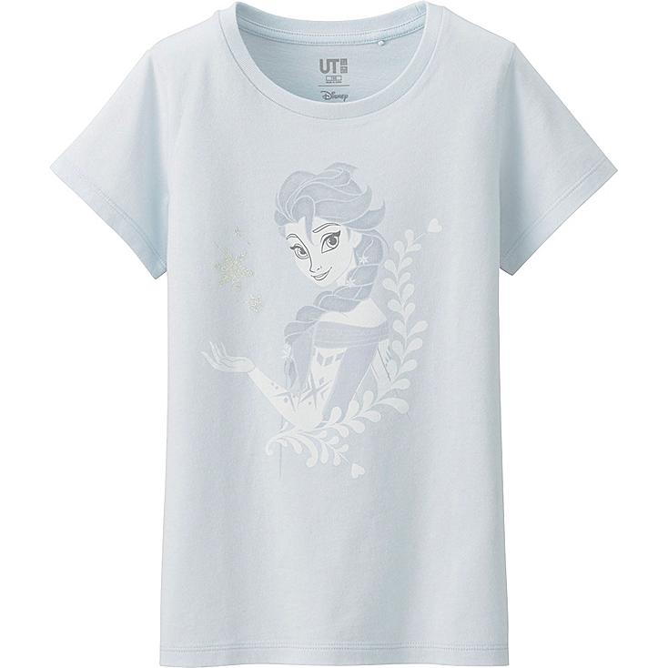 GIRLS Disney Project Graphic T-Shirt, LIGHT BLUE, large