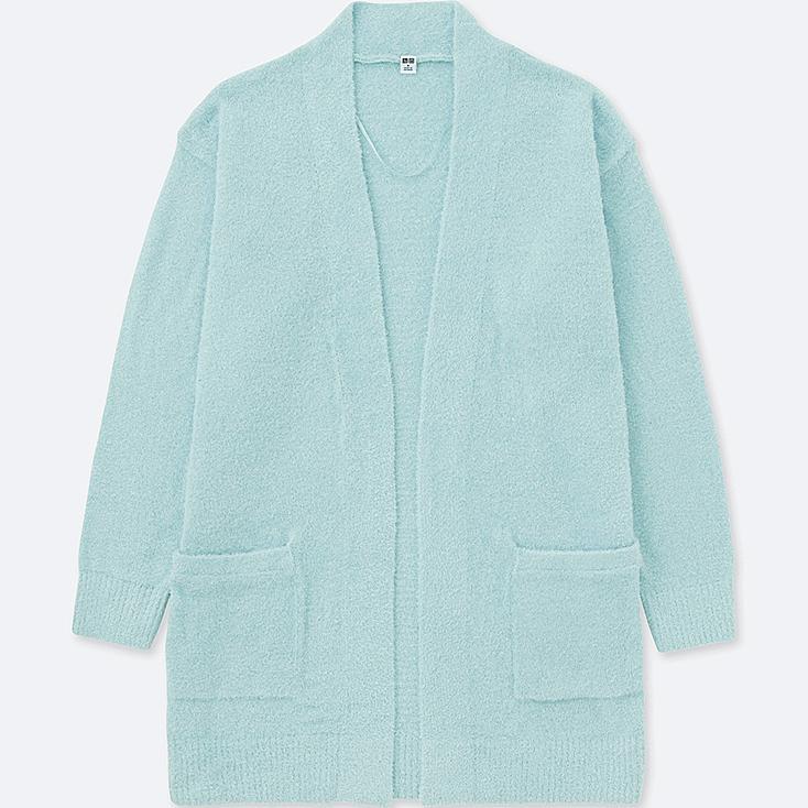 WOMEN Fluffy Yarn Lounge Long Sleeve Cardigan