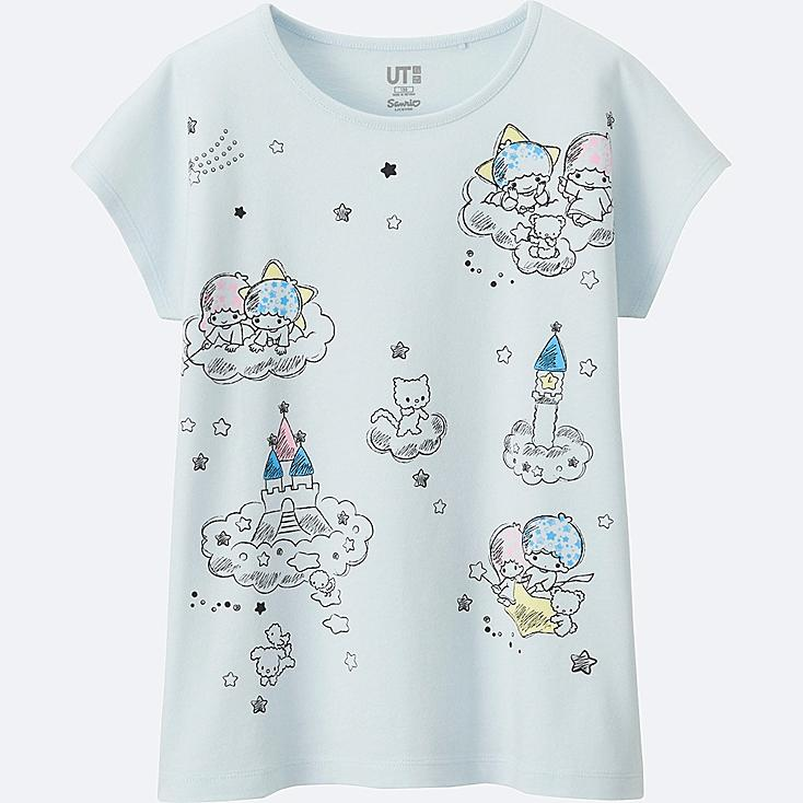 GIRLS SANRIO SHORT SLEEVE GRAPHIC T-SHIRT, LIGHT BLUE, large